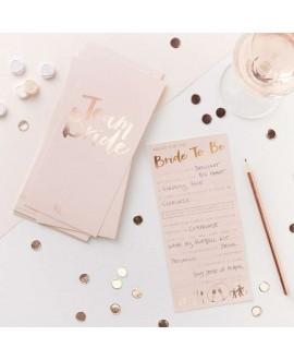 Roze-roségouden Wedding Wishes voor Team Bride