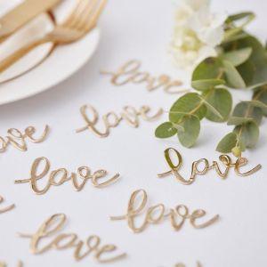 Ginger Ray Gold Wedding Gold Love Tafel Confetti GO-129