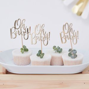 Ginger Ray OB-105 Oh Baby Cupcake Toppers