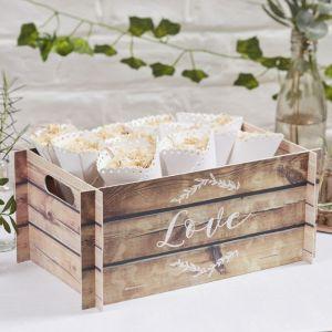 Kistje met LOVE houtlook - Beautiful Botanics