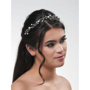 Isabelle | Luxe Tiara met parels - Poirier BB-720