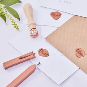 """Wax Stempel """"with Love"""" kit"""