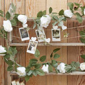 Decoratieve witte rozen slinger | Rustic Country