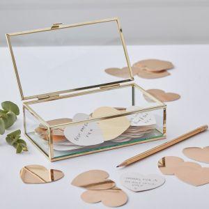 Glazen kistje gastenboek GO-114 | Ginger Ray Gold Wedding