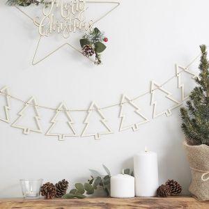 Houten slinger met Kerstbomen | Rustic Christmas