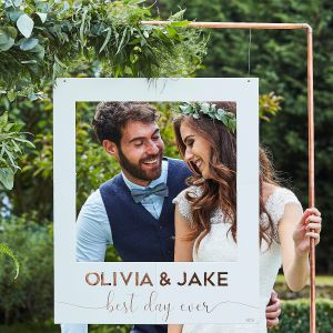 Ginger Ray BR-339 Botanical Wedding Photo Booth Frame