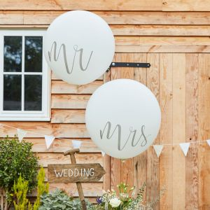 Ginger Ray CW-218 Rustic Country Mr & Mrs Mega Ballonnen