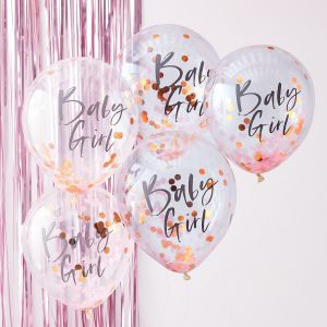 Ginger Ray TW-801 Twinkle Twinkle Roze Confetti Ballonnen